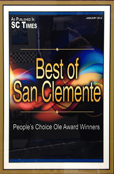 Best of San Clemente People's Choice Ole Award Winners